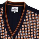 BEN SHERMAN 1960s Mod Dogtooth Front Cardigan