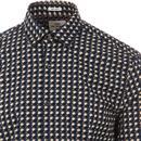 BEN SHERMAN Men's Retro Geo Square Print Shirt DB
