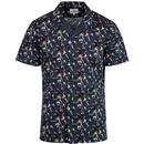 ben sherman retro dancers print shirt navy