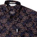 Vega BEN SHERMAN Mod 1980's Archive Paisley Shirt