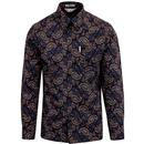 ben sherman vega shirt paisley pattern black