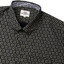 BEN SHERMAN Retro Mod Distressed Wallpaper Shirt