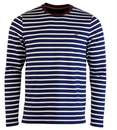 fred perry breton top french blue