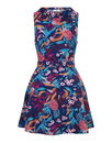 Bright and Beautiful retro 60s Mod Dress Tropical