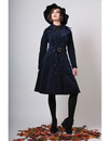 Sage BRIGHT & BEAUTIFUL 60s Mod Belted Cord Coat