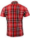 BRUTUS TRIMFIT Retro Mod Heritage Red Tartan Shirt