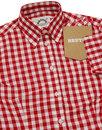BRUTUS TRIMFIT Women's Mod Gingham Check Shirt RED