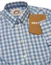 BRUTUS TRIMFIT Women's Mod Gingham Check Shirt SKY