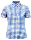 brutus trimfit womens retro mod sky gingham shirt