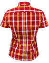 BRUTUS TRIMFIT Women's Mod Tartan Check Shirt RED