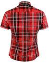 BRUTUS TRIMFIT Womens Heritage Red Tartan Shirt