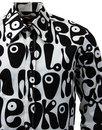 Moloko CHENASKI Retro Sixties Pop Art Mod Shirt BW