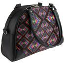 Abstract Rhombus CHENASKI Neon Retro Bowling Bag B