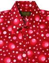Dots & Spots CHENASKI Retro 1970s Op Art Mod Shirt