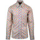 chenaski limited edition screen print shirt mint/rose