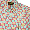 Screens CHENASKI Retro 70's Abstract Print Shirt M