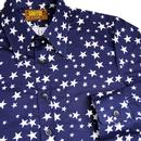 Stars CHENASKI Retro 1970's All Over Print Shirt