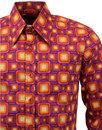Box Tops CHENASKI Retro 70s Geometric Shirt (V)