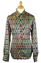 CHENASKI RETRO MOD SIXTIES OVALS SHIRT 70S DISCO