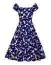 Dolores COLLECTIF 50s Vintage Charming Birds Dress