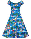 Collectif Retro Vintage 50s Doll Dress Flamingo