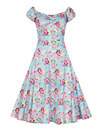 Collectif Retro 50s Vintage Dolores Doll Dress Blu
