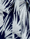Akiko COLLECTIF Retro Palm Print Palazzo Trousers