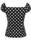 Dolores COLLECTIF Retro Vintage 50s Polka Dot Top