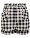 Collectif Retro 50s Gingham Shorts Black