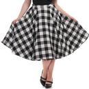Collectif Retro 50s Gingham Swing Shirt Black