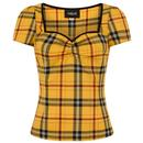 Collectif Retro 50s Mimi Clueless Check Top