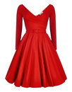 Nicky COLLECTIF Vintage 1950s Party Doll Dress RED