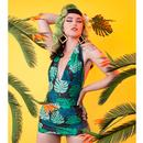 Collectif x Playful Promises Retro 50s Vintage Swimsuit Palm
