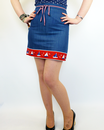 DAINTY JUNE RETRO DENIM PENCIL SKIRT SOUTH PACIFIC