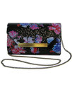 darling rosalie retro floral textured clutch bag