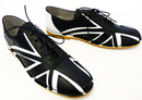 Tommy Retro Union Jack Mod Bowling Shoes (B/W)