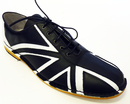 WOMENS UNION JACK BOWLING SHOES RETRO MOD WHO 60s
