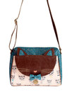 disaster designs retro 70s indie cat meow satchel