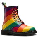 dr martens 1460 pride rainbow stripe ankle boots