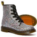 Farrah DR MARTENS Retro 1460 Glitter Boot (Blue)