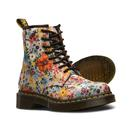 Dr martens wanderlust canvas floral boots taupe