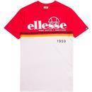Brescia ELLESSE Retro Indie Sports Heritage Tee Red