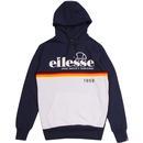 Ellesse Rubianello stripe hoodie navy