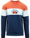 ellesse oriveto applique logo panel sweater blue