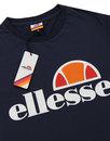 Prado ELLESSE Mens Retro Classic Logo T-Shirt NAVY