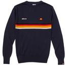ellesse valmir chest stripe knitted jumper navy