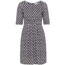 Emily & Fin Hattie Retro 60s Mod Navy Swans Dress