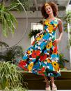 Margot EMILY AND FIN 50s Painted Floral Midi Dress