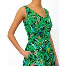 Margot EMILY & FIN Hothouse Palms Print Midi Dress