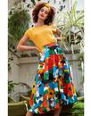 Sandy EMILY AND FIN Floral 50s Circle Midi Skirt